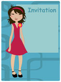 Invitation frame — Stock Vector