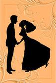 невеста и жених — Cтоковый вектор