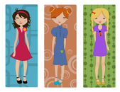 Young girls — Stock Vector