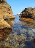 Rocky shore of the Black Sea — Stock Photo