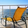 Lounger on the balcony — Stock Photo