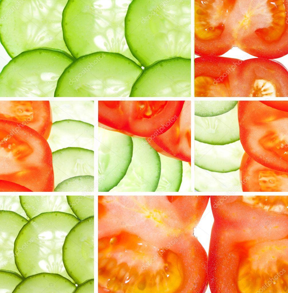 蔬菜拼贴画
