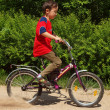 Stock Photo: Boy rides bike