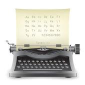 Skrivmaskin — Stockvektor