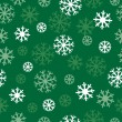 Snow green pattern — Stock Vector