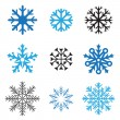 Different snowflakes — Image vectorielle