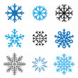 Stock Vector: Different snowflakes