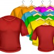 T-shirt multicolored — Stock Vector