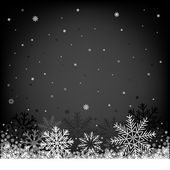 Christmas black background — Stock Vector