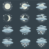 Night weather icon — Stock Vector