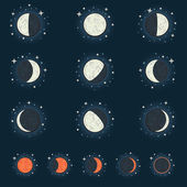 Moon phase — Stock Vector