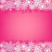 Rosa snö bakgrunden — Stockvektor