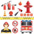 Vector de stock : Fire set
