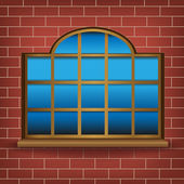 Large window — Stock Vector