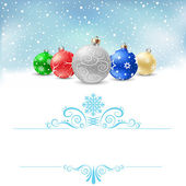 Christmas bauble snow pattern — Stock Vector