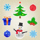 рождество и новый год коллекции карт — Cтоковый вектор