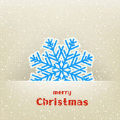 Christmas card with snowflake — Stock Vector