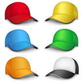Multicolored caps — Stockvektor