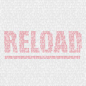 Reload code background — Stock Vector