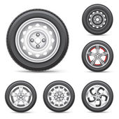 Jeu de pneus — Vecteur