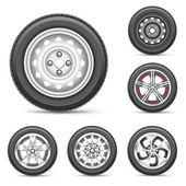 Juego de neumáticos — Vector de stock