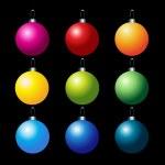 Set of colorful vector christmas balls — Stock Vector #1357385