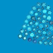 Collections of round shape jewelry gems. Swiss blue topaz — Stock Photo