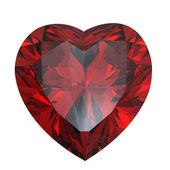 Heart shaped Diamond isolated. Garnet — Stock Photo