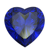 Heart shaped Diamond isolated. sapphire — Stock Photo