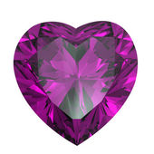 Heart shaped Diamond isolated. amethyst — Stock Photo