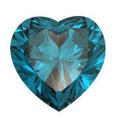 Corazón en forma de diamante aislado. suiza topacio — Foto de Stock