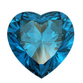 Heart shaped Diamond isolated. aquamarine — Stock Photo