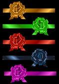 Conjunto de fitas coloridas com laço — Vetorial Stock