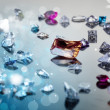 Royalty-Free Stock Photo: Set of many different gemstone