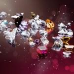 Set of many different gemstone — Stock Photo #17660395