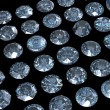 Collections of jewelry gems. Swiss blue topaz — Stock Photo