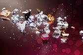 Conjunto de muchas diversas piedras preciosas — Foto de Stock