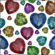 Heart shaped Diamond isolated - Stock fotografie