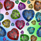 Heart shaped Diamond isolated on color background — Foto Stock