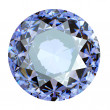 Jewelry gems roung shape on white background.Tanzanite. Sapphire — Stock Photo
