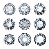 Jewelry gems roung shape on white background — Zdjęcie stockowe