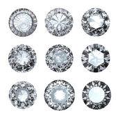 šperky klenoty roung tvar na bílém pozadí — Stock fotografie