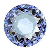 Jewelry gems roung shape on white background.Tanzanite. Sapphire — Stock Photo