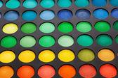 Professional multicolour eyeshadows palette — Stock Photo