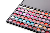 Professional multicolour eyeshadows palette — Stock Photo