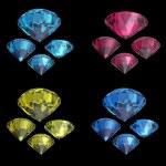 Round blue sapphire — Stock Photo