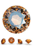 Round citrine — Stock Photo