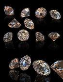 Round cognac diamond — Stock Photo