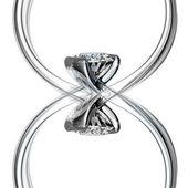 ダイヤモンドの結婚指輪 — ストック写真