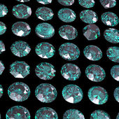 Set of round green diamond. — Stock Photo